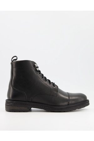 WALK LONDON Wolf toe cap boots in leather