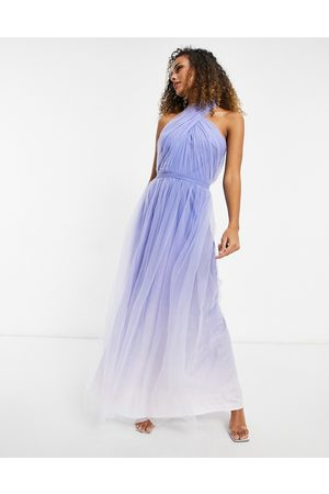 Chi Chi London High neck ombre maxi dress in