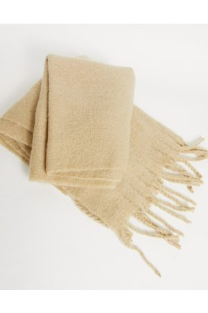 ASOS Blanket scarf in cream with textured detail