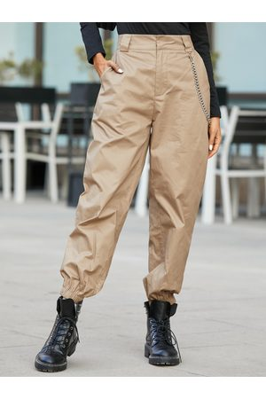 YOINS Casual Chain Design Side Pockets Pants
