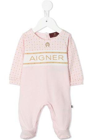 Aigner Baby Bodysuits - Logo-yoke babygrow