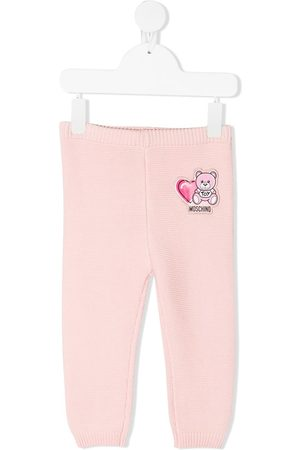 Moschino Logo-patch knitted track pants