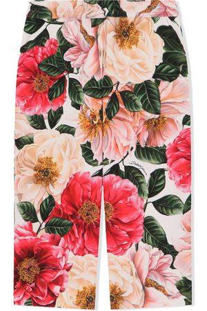 Dolce & Gabbana Floral-print wide-leg trousers