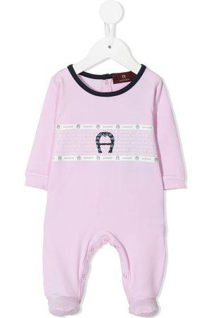 Aigner Baby Bodysuits - Logo-print babygrow
