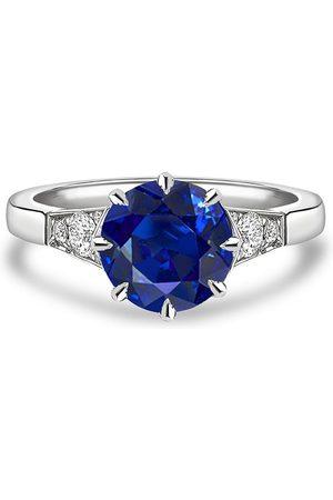 Pragnell Platinum Antrobus sapphire and diamond ring