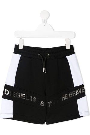 Diesel Boys Shorts - Colour-block cotton shorts