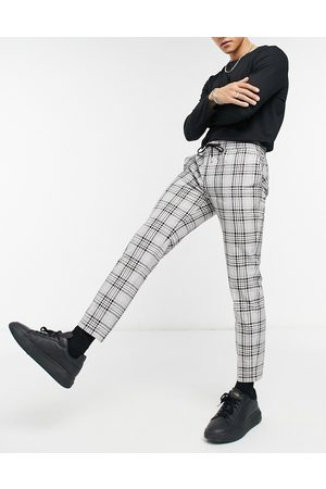 Topman Smart joggers in check