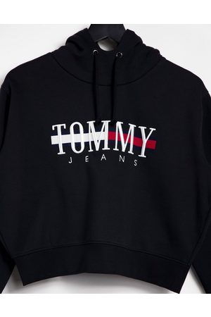 Tommy Hilfiger Relaxed crop logo hoodie in