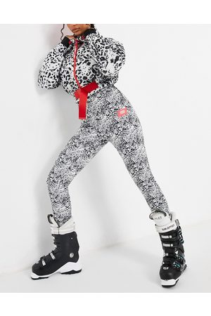 ASOS Ski skinny ski trouser with stirrup in mono animal