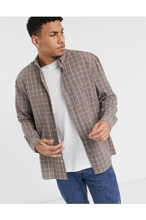ASOS 90s oversized check shirt in windowpane