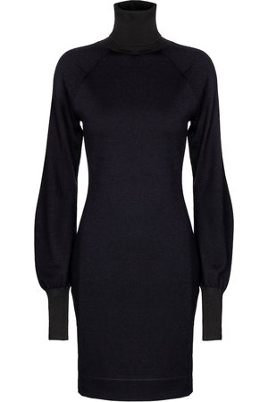 Victoria Beckham Turtleneck wool-blend minidress