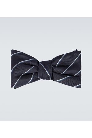 Alexander McQueen Striped silk bowtie