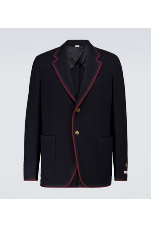 Gucci Wool and cotton jersey blazer