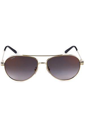 Cartier Men Sunglasses - 61MM Goldtone Aviator Sunglasses