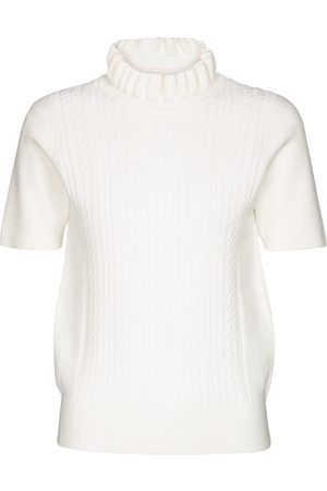 Chloé Cable-knit turtleneck top