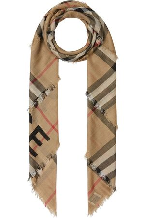 Burberry Check print knitted scarf