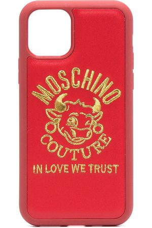 Moschino Logo-embroidered iPhone 11 Pro case