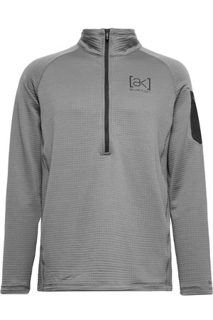 Burton Men Sweatshirts - [ak] Helium Slim-Fit Polartec Power Grid Fleece Hooded Half-Zip Ski Mid-Layer