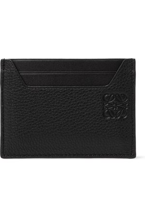 Loewe Men Wallets - Logo-Debossed Smooth and Full-Grain Leather Cardholder