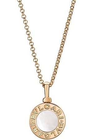 Bvlgari Classic 18K Rose & Mother-of-Pearl Pendant Necklace