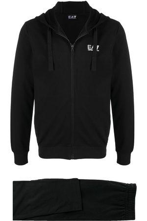 Ea7 Emporio Armani Logo-print cotton tracksuit