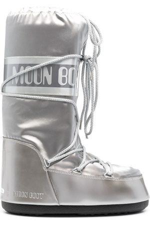 Moon Boot Icon satin snow boots