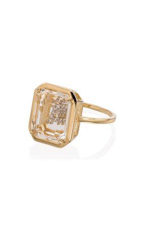 Mateo Women Rings - 14kt A diamond initial ring