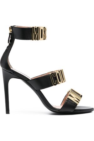 Moschino Logo-letter leather sandals
