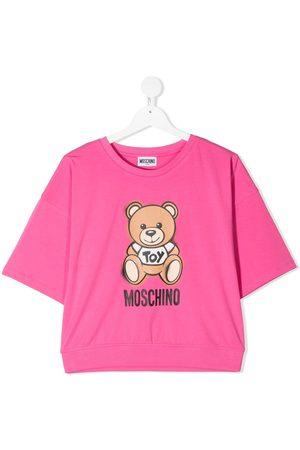 Moschino Girls Short Sleeve - Teddy logo print T-shirt