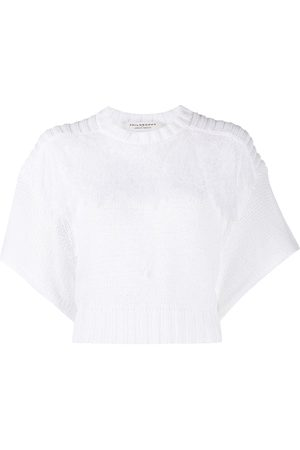 Serafini Short-sleeved cropped knit top