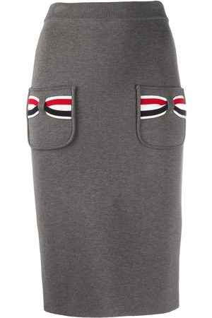 Thom Browne Knitted pencil skirt