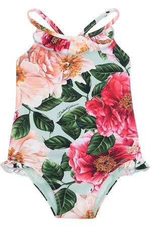 Dolce & Gabbana Kids Baby Swimsuits - Floral-print swimsuit