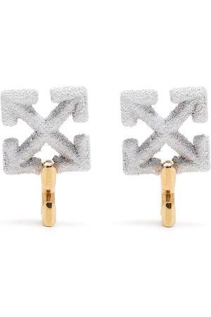 OFF-WHITE ARROW PENDANT EARRINGS WHITE
