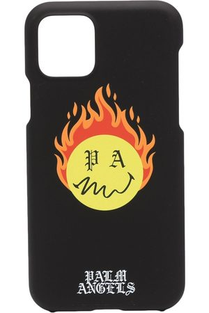 Palm Angels Men Phone Cases - BURNING HEAD IPH CASE 11 PRO YELLO