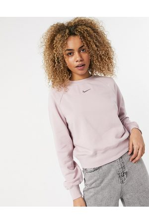 Nike Swoosh sweatshirt in light with crew neck