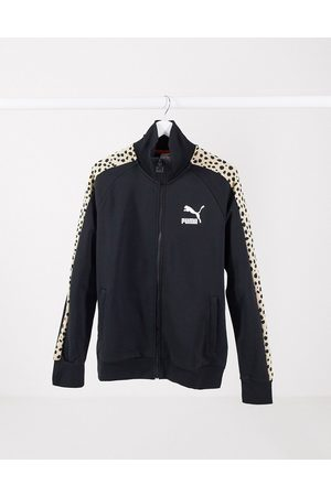 PUMA Classics T7 track top in with leopard print