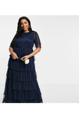 ANAYA Women Maxi Dresses - Anaya With Love Plus Bridesmaid ruffle tiered maxi dress in