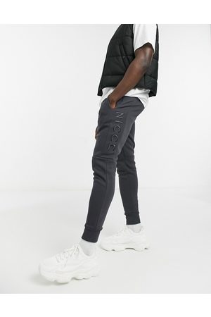 Nicce London Embroidered logo mercury joggers in coal