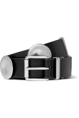 Bottega Veneta 3cm Leather and Silver-Tone Belt