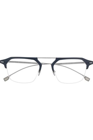 HUGO BOSS Two-tone round-frame glasses