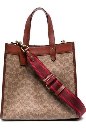 Coach Monogram pattern tote bag
