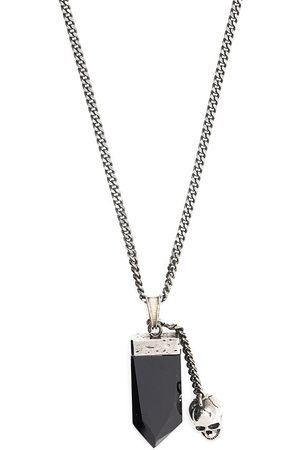 Alexander McQueen Jagged stone skull chain necklace