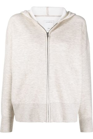 Sandro Bolivie logo-printed hoodie