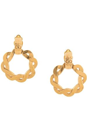 CHANEL 1997 CC twisted hoop earrings