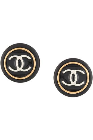 CHANEL 1997 CC button clip-on earrings
