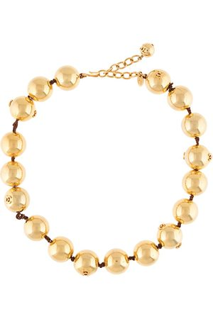 CHANEL Oversized ball chain necklace