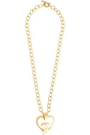 CHANEL 1995 CC heart motif chain necklace