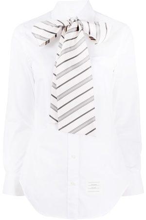 Thom Browne Tie detail cotton shirt