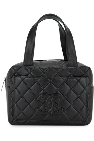 CHANEL 2001 quilted CC logo tote bag