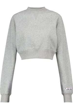 Adam Selman Sport Cropped cotton-blend sweatshirt